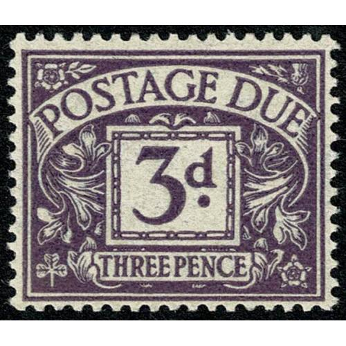 1914 3d Violet. WATERMARK SIDEWAYS INVERTED . SG D5Wi