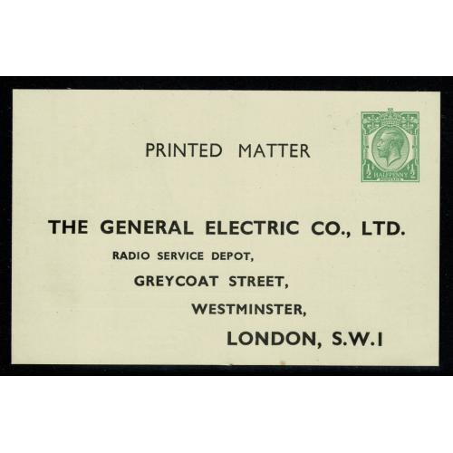 1920-26 STO Printed Matter for General Electric Co. H&B CS61