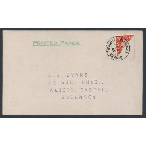 GVI 2d Orange bisected on cover. SG 465b