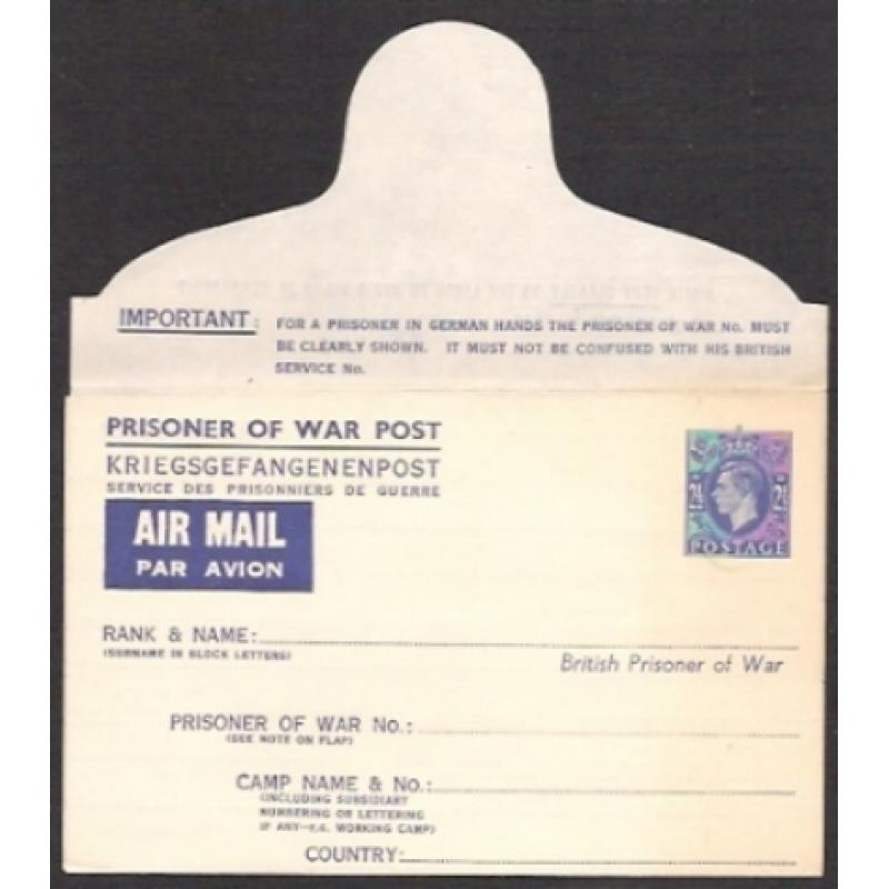 Prisoner of War Airmail. 2½d blue. APF3