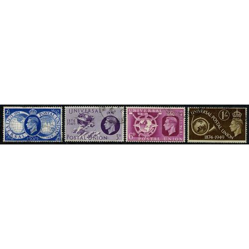 1949 Universal Postal Union. Set of 4 values Fine Used. SG 499-502