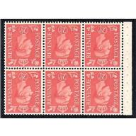 2½d Pale scarlet. Watermark Inverted. SG QB34a Perf I.
