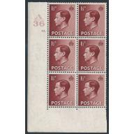1½d Red-brown. Scarce Cyl. 12 dot (A 36) Perf. Type 2